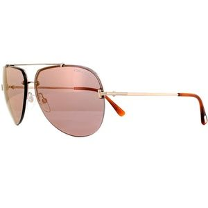 Tom Ford Sunglasses Pink Mirror Lens Gold Frame
